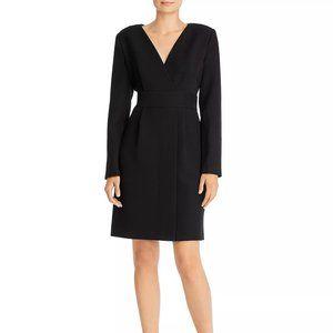 Donna Karan Faux-Wrap Dress Black Size 8